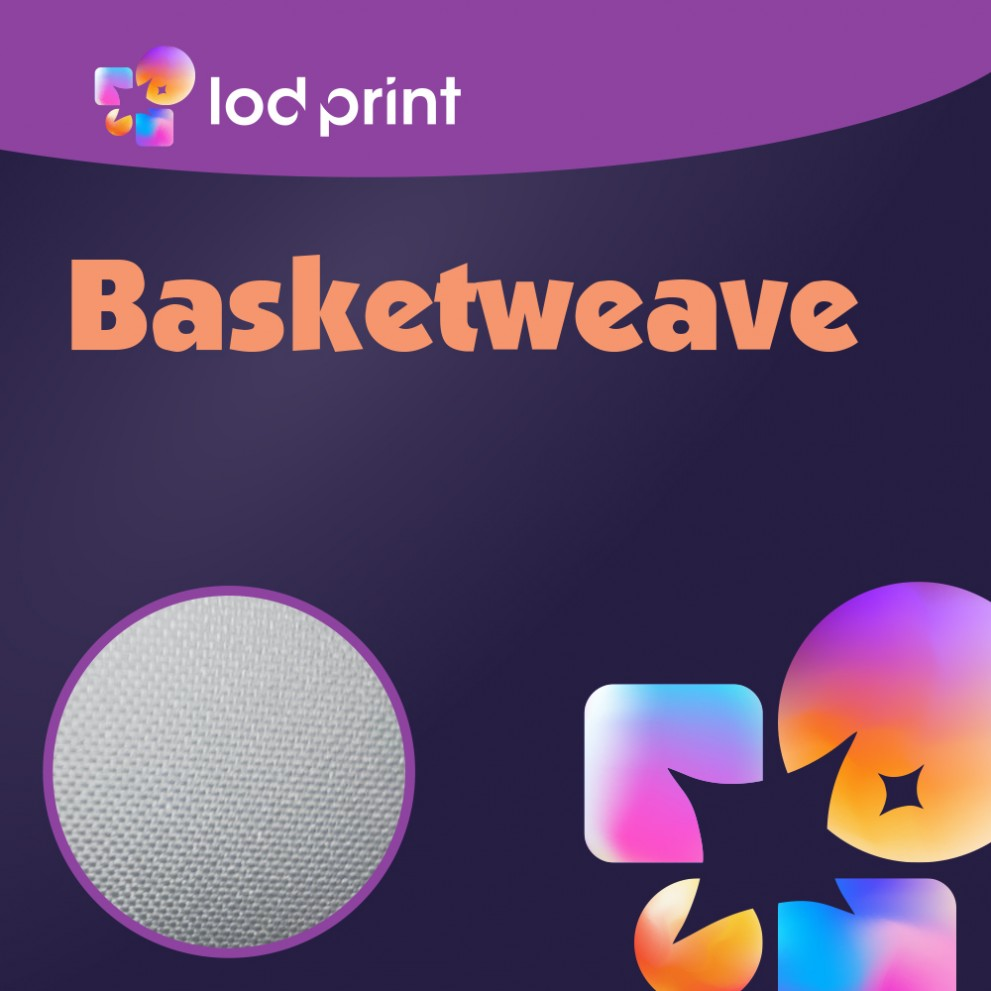 Fabric Banner - Basketweave
